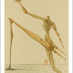 "Dali Woodcut ""Hell 28 - Bertan de horn"" suite Divine Comedy"