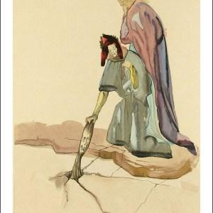 Dali Woodcut, Treacherous to their homeland-Hell 32