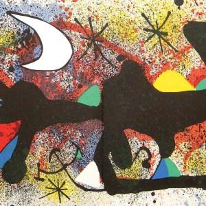 Joan Miro Original Lithograph Ceramique 2 Signed 1974