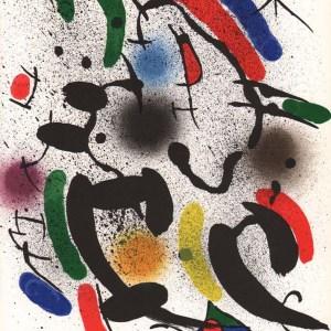 "Joan Miro Original Lithograph ""V1-6"" 1970"