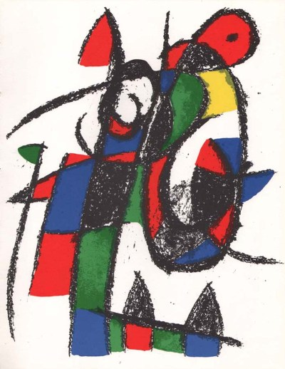 Miro Original Lithograph V2-2 by Mourlot 1975
