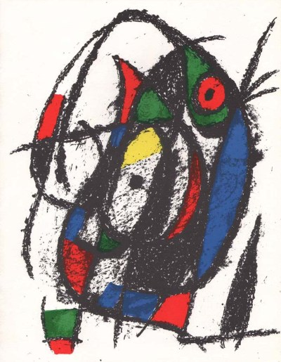 """Miro Original Lithograph """"V2-4"""" printed 1975"""