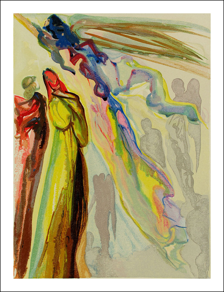 Salvador Dali Woodcut, Paradise 16 -The apparition of the ancestor