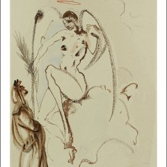 "Dali Woodcut ""Paradise 31 - The Archangel Gabriel"" Divine Comedy"