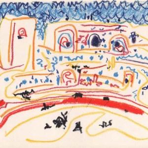 Pablo Picasso, Toros y Toreros 1 dated 1/8/57