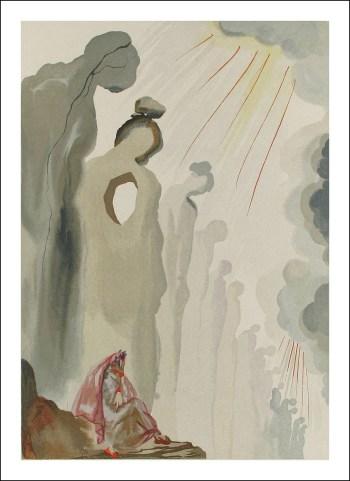 Salvador Dali Woodcut, Second terrace-Purgatory 13