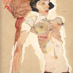 Egon Schiele Lithograph 16, Girl Reclining, 1968