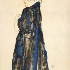 "Schiele Egon, 27, Lithograph, ""Peasant girl"" printed 1968"