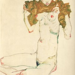 "Schiele Egon, Lithograph, ""The Virgin"" 33 printed 1968"