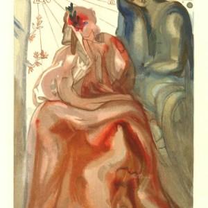 Salvador Dali Woodcut, Dante confession – Purgatory 31
