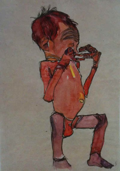 """Schiele Egon, 3, Lithograph, """"New Born Baby"""" printed 1968"""