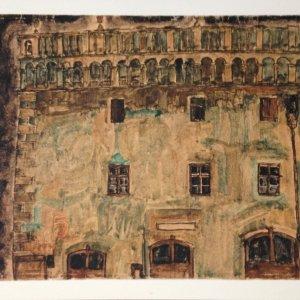 Egon Schiele Lithograph 14, Krumau Town, 1968