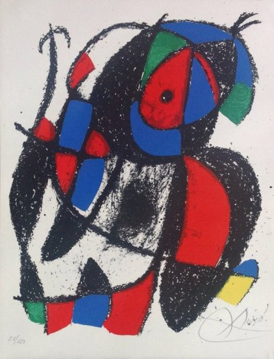 Miro Signed Original Lithograph & numbered 51/150