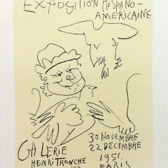 "Picasso 63 Lithograph ""Expo Hispano Americaine""1959 Mourlot Art in posters"