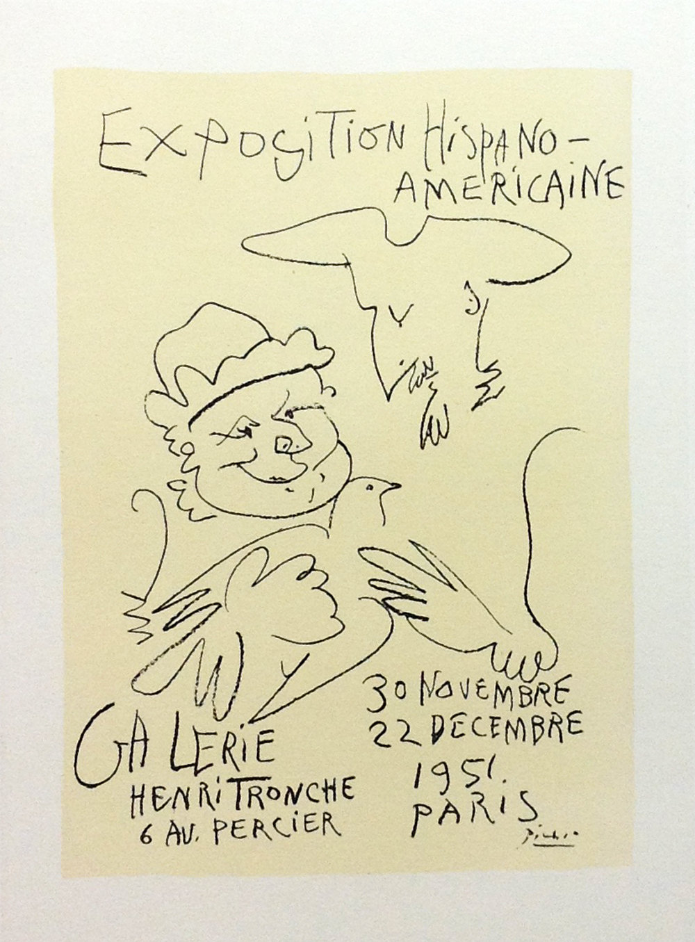 """Picasso 63 Lithograph """"Expo Hispano Americaine""""1959 Mourlot Art in posters"""