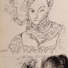"""Picasso's Sketchbook""""Lithograph dated 30/11/1955"""