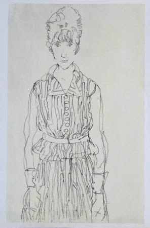 "Schiele Egon, 49, Lithograph ""Portrait of Edith Schiele"" printed 1968"