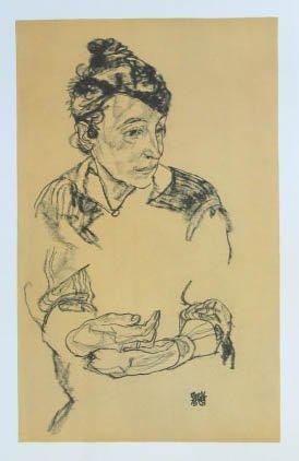 """Schiele Egon, 62, Lithograph, """"Portrait of Schiele's Mother"""" 1968"""
