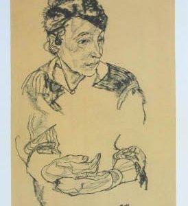 Schiele Lithograph 62, Schiele's Mother, 1968