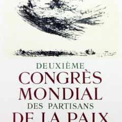 "Picasso 62 Lithograph ""Congress mondial""1959 Mourlot Art in posters"