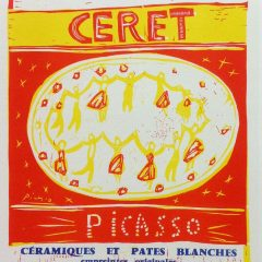 "Picasso 92 Lithograph ""Ceret"" printed 1959 by Mourlot, Art in posters"
