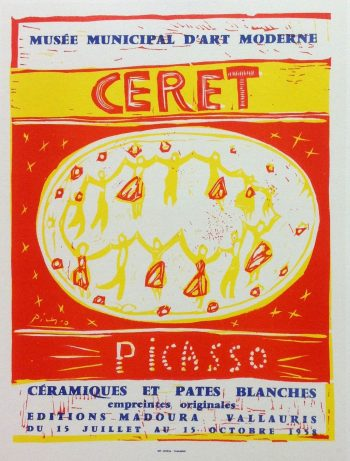 Picasso Lithograph 92, Ceret, Art in posters