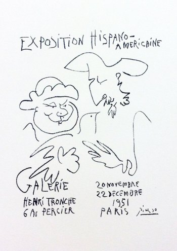 Picasso Lithograph 65, Expo Italiano, Art in posters