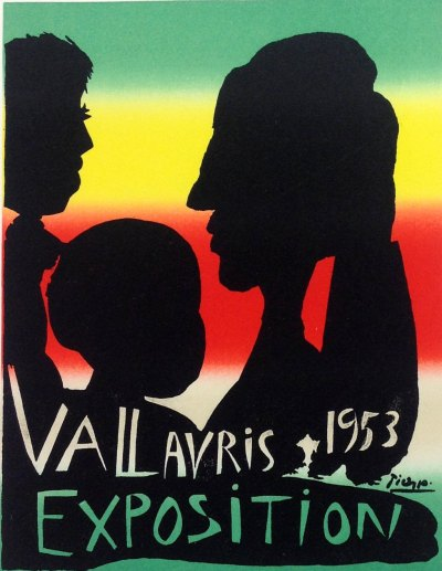"""Picasso 69 """"Exposition Vallauris 1953"""" printed 1959 Mourlot"""