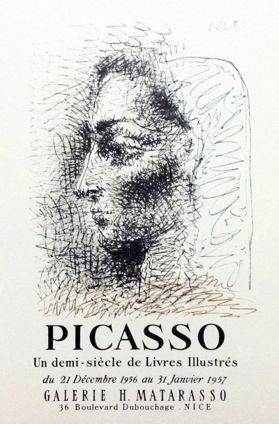 "Picasso 82 ""un demi siecle de livres illustres"" printed 1959 by Mourlot"