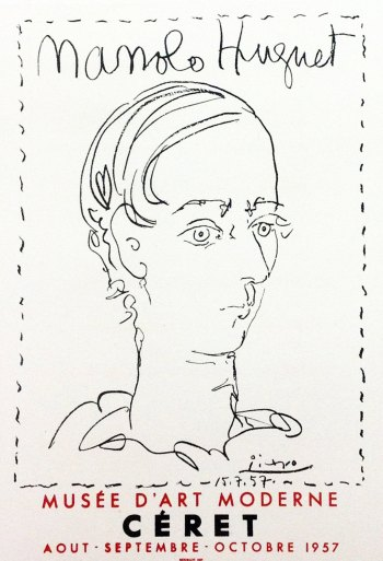 Picasso Lithograph 87, Manolo hugnet, Art in posters