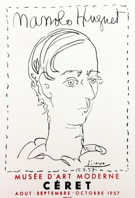 "Picasso 87 ""Manolo hugnet"" printed 1959 Mourlot"