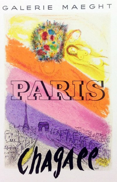 "Chagall 21 ""Paris"" Art in posters Mourlot 1959"