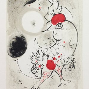Marc Chagall lithograph, art in posters
