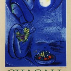 "Chagall 17 ""Ville de Nice"" Art in Posters - Mourlot 1959"