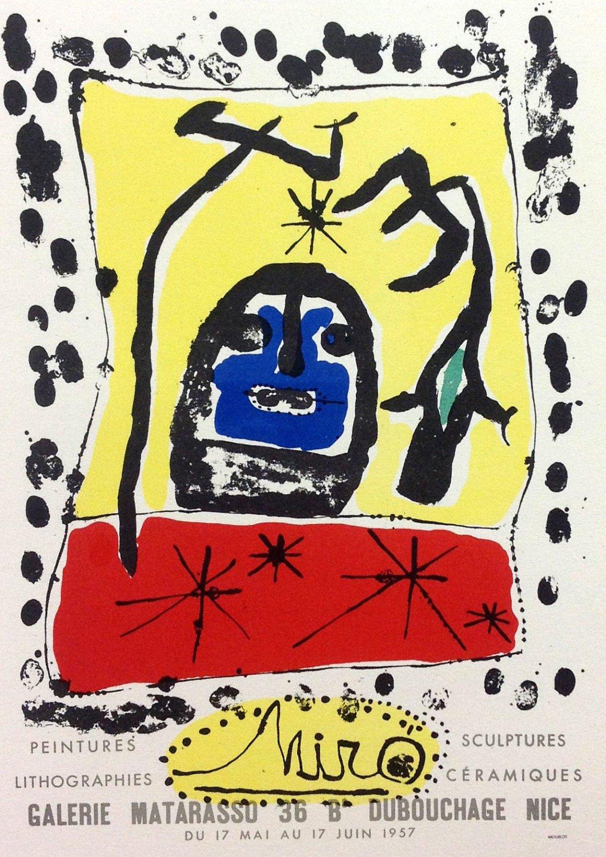 "Miro 54 ""Miro 1957"" Art in posters printed 1959 Mourlot"