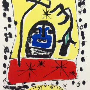 Joan Miro Lithograph 54, Expo 1957, Art in posters