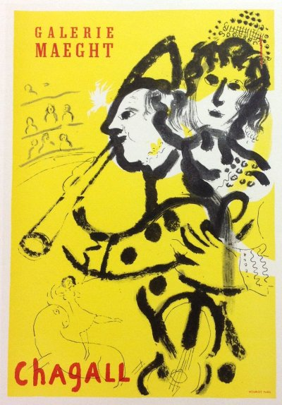 "Chagall 24 ""Galerie Maeght 1957"" Art in posters Mourlot 1959"