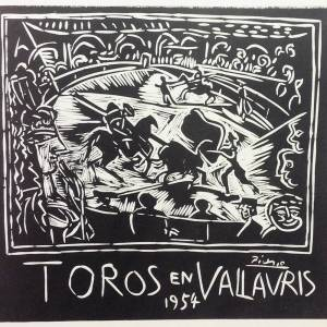 Picasso Lithograph 71, Toros en Vallauris 1954