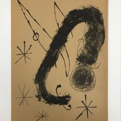 "Joan Miro Original Lithograph ""DM17151"" 1970"