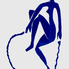"Henri Matisse ""Blue nude jumping a rope"" printed 1983"