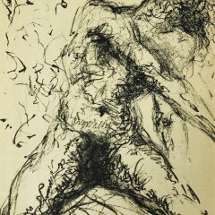 "Dali Original Lithograph ""Nu Gris"" Meissonier 1967"
