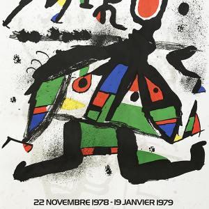 """Miro Poster Original Lithograph """"Exposition 1978"""""""