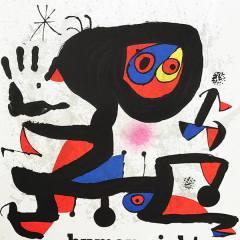 "Miro ""UNESCO"" Poster Original Lithograph size 21.50 x 29"""