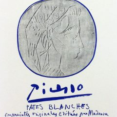"Picasso 86 Lithograph""Pates Blanches Cannes"" 1959 Mourlot Art in posters"