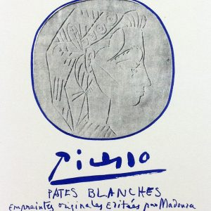 Picasso Lithograph 86, Pates Blanches Cannes, 1959