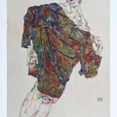 "Schiele Egon, 34, Lithograph, ""Deliverance"" printed 1968"