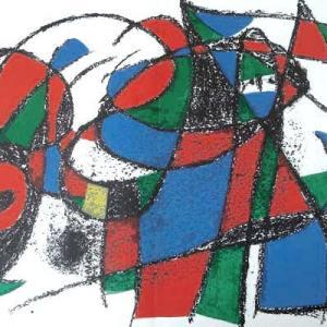 Joan Miro Original Lithograph V2-3d, Mourlot 1975