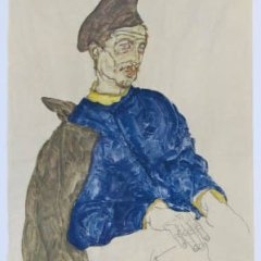 "Schiele Egon, 45, Lithograph, ""Russian prisoner of war"" printed 1968"