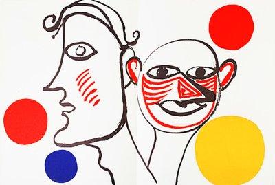 """Calder Original Lithograph DM31221"""" Printed 1976"""