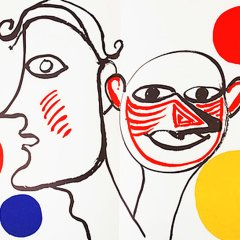 "Calder Original Lithograph DM31221"" Printed 1976"